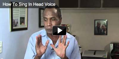 Singing teacher explains how to sing in head voice